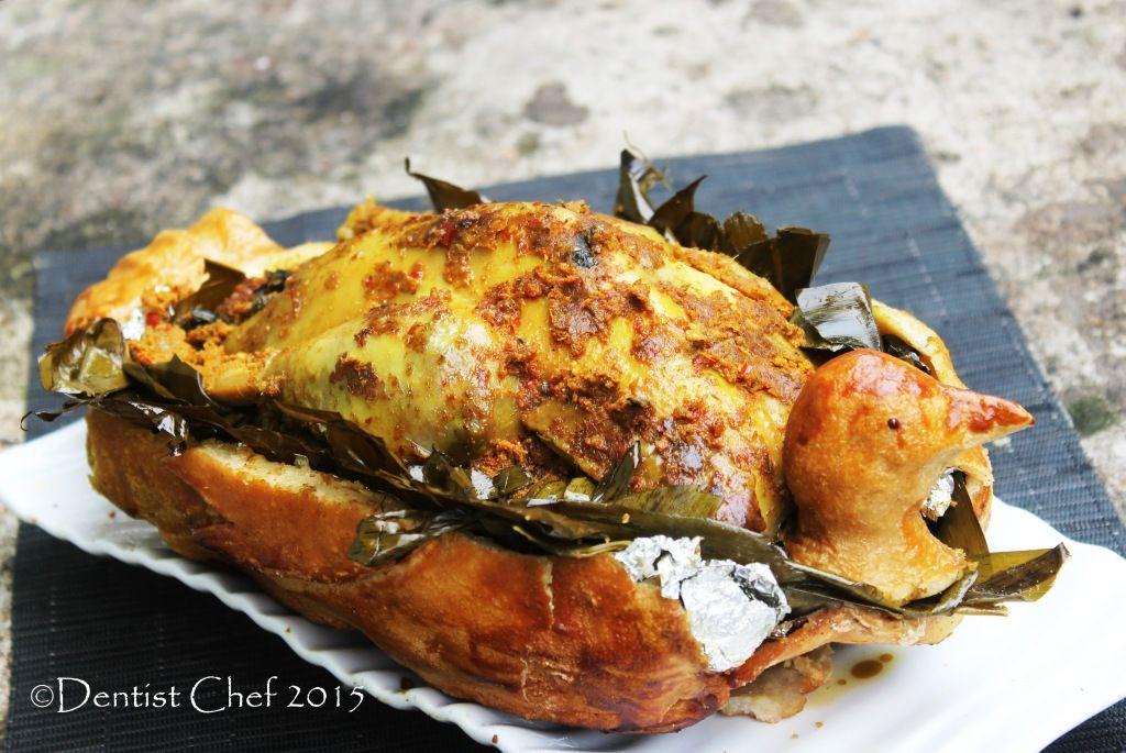 Resep Ayam Betutu Bali Salt Crusted And Banana Leaves Wrapped Roasted Balinese Spicy Chicken Resep Ayam Panggang Ayam