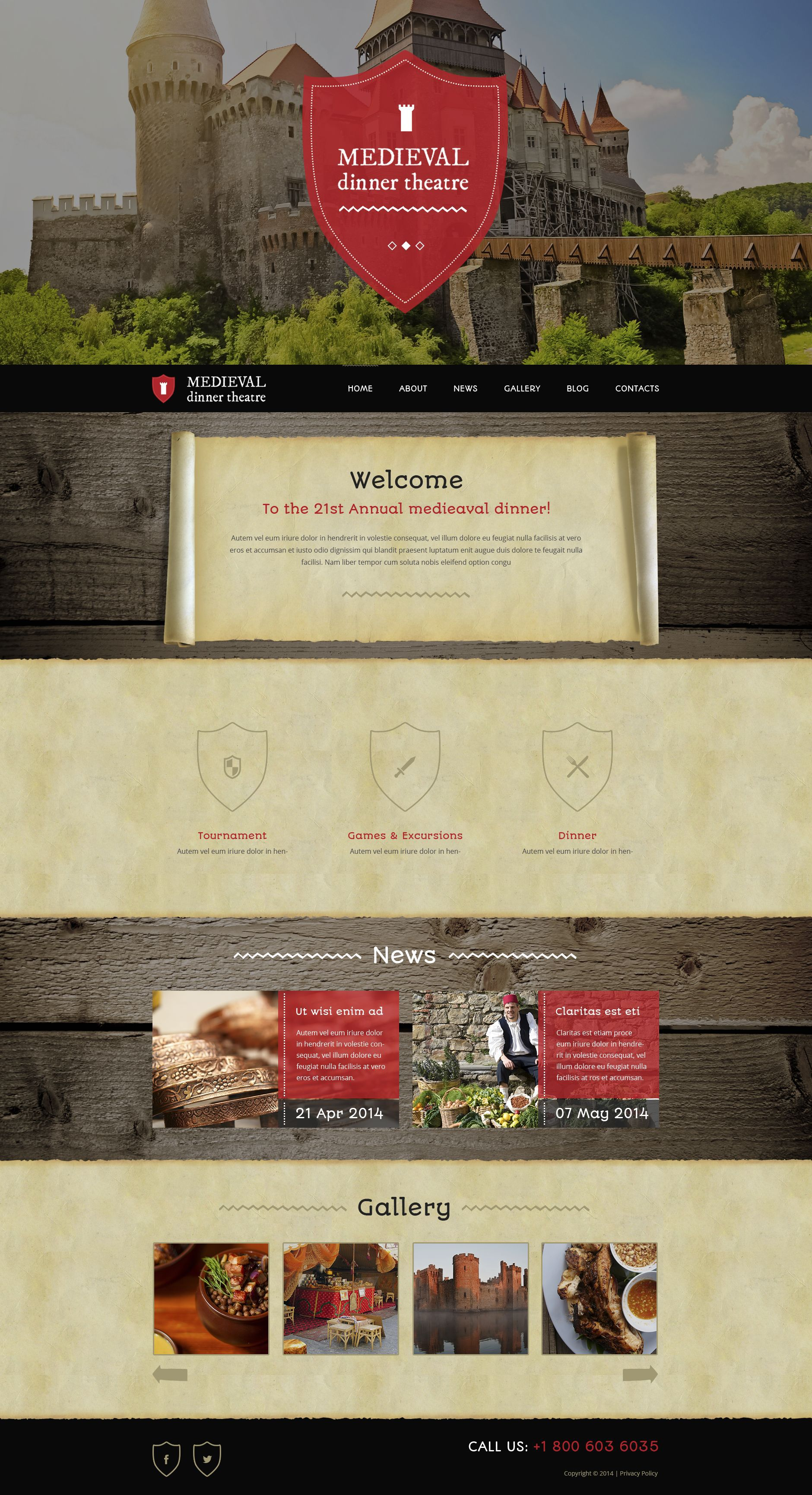 Me val Dinner Theater WordPress Theme Beauty s