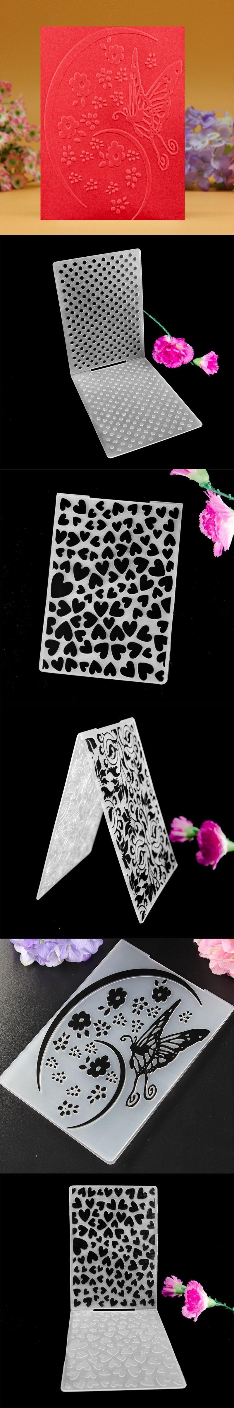 DIY Scrapbooking Card Making Plastic Embossing Folder Flower ...