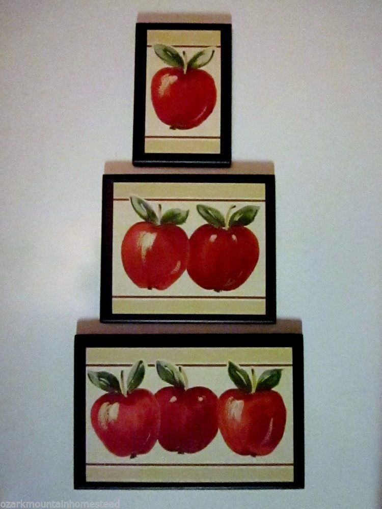 Apple Signs Kitchen Wall Decor 3 country farm house style ...