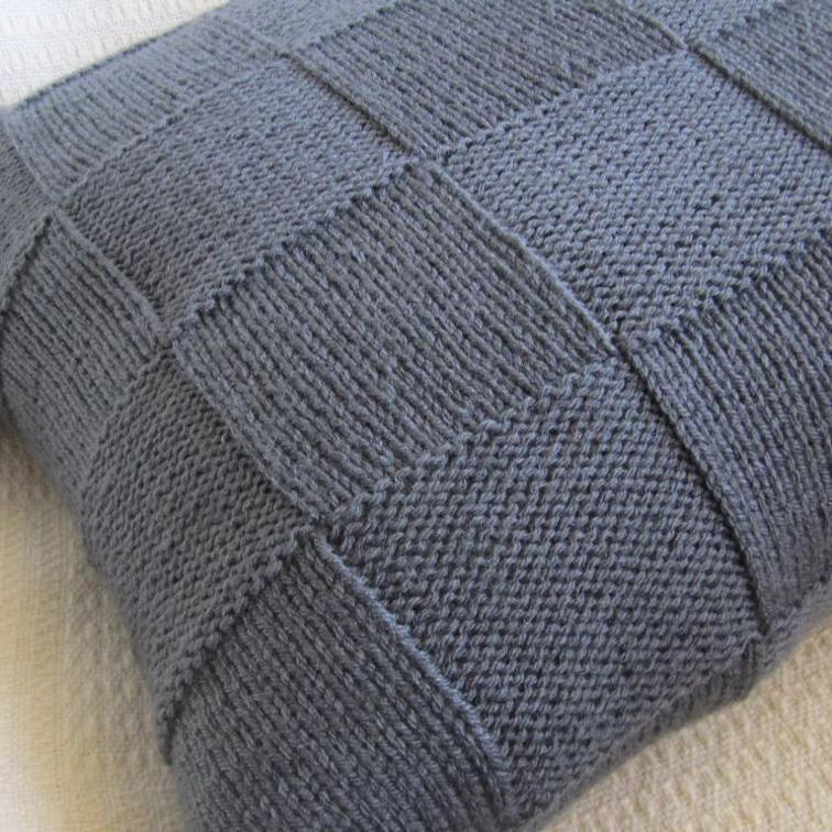 Simple Squares 20x20 Pillow Cover | Knitted cushion covers ...