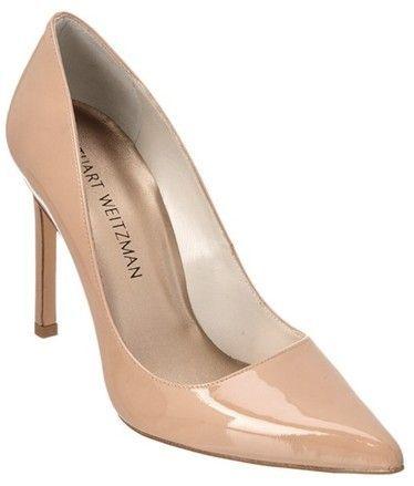 8655390ff23a Designer shoes- Stuart Weitzman Brown Tara Patent Pumps Size US 9 Regular (M