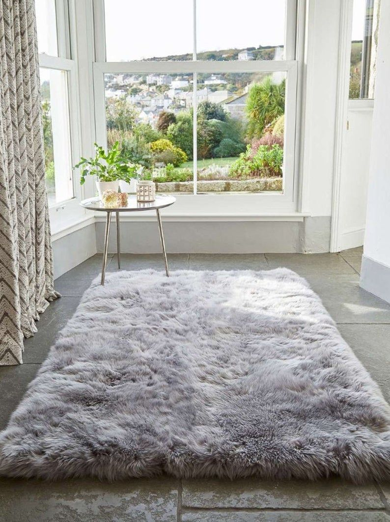 Silver Alpaca Fur Rug Area Soft Fluffy Alpaca Rugs Light Etsy Grey Bedroom Rug Buying Rugs Online Rugs On Carpet