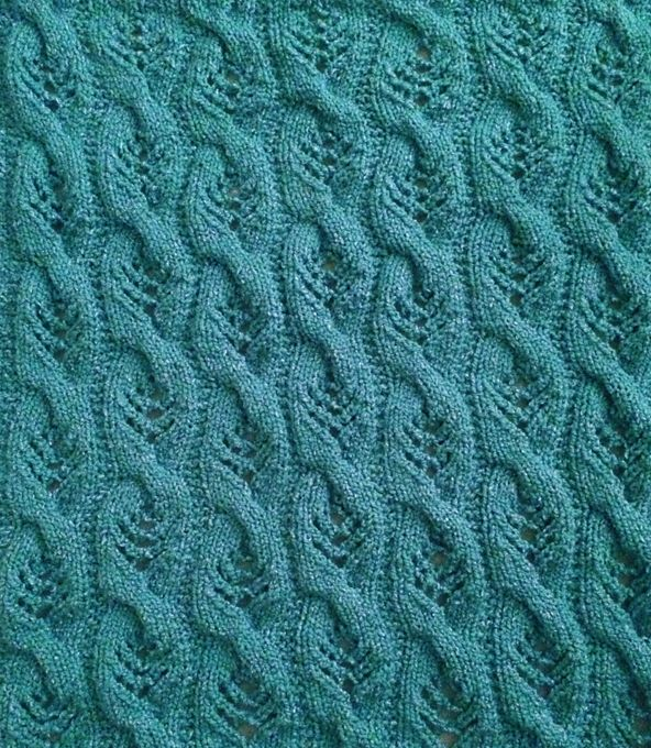 Free Knitting Pattern for Sweet Cables Baby Blanket   Knit   Pinterest