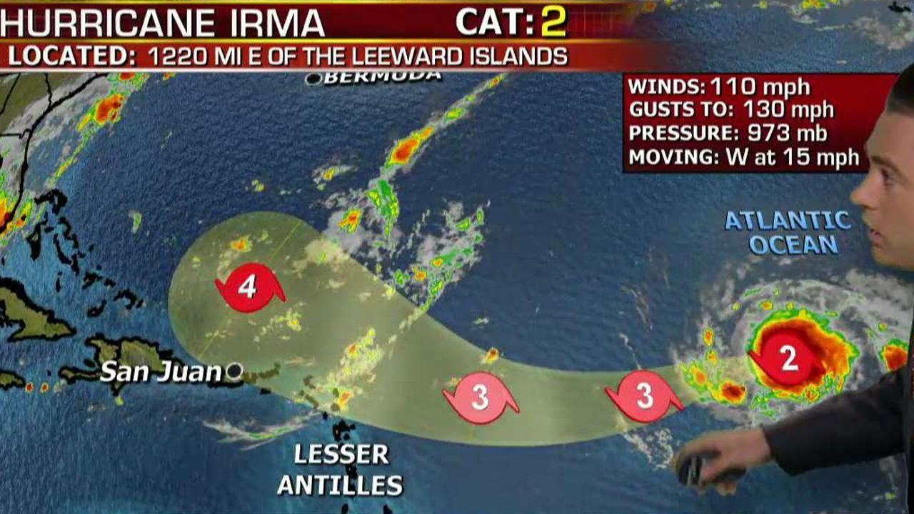 Fox News Hurricane Irma Gathers Strength In Atlantic Ocean Fox News Meteorologist Adam Klotz Discusses The Remnants Of Harvey Pote Hurricane Atlantic Hurricane