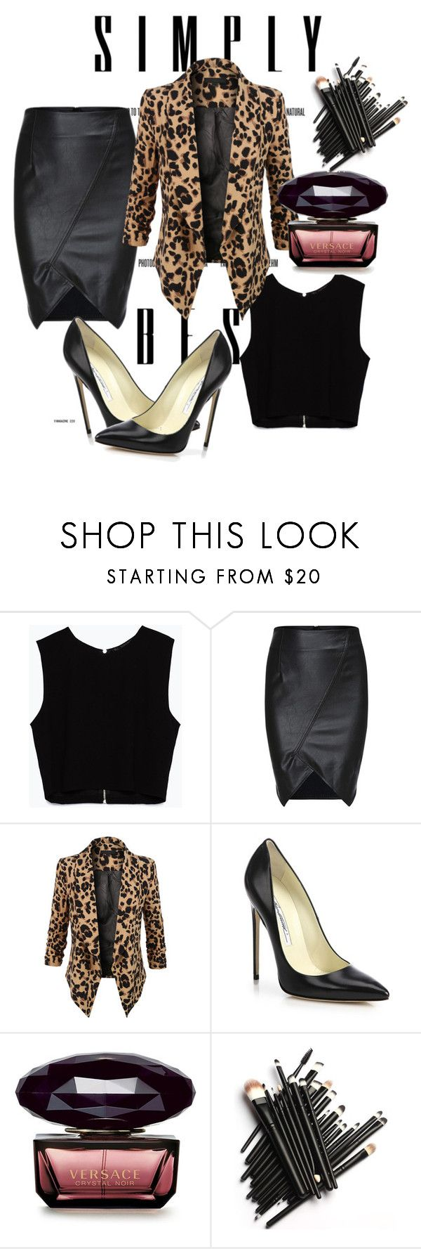 """""""Untitled #2"""" by zerina1993 ❤ liked on Polyvore featuring moda, Zara, LE3NO e Brian Atwood"""