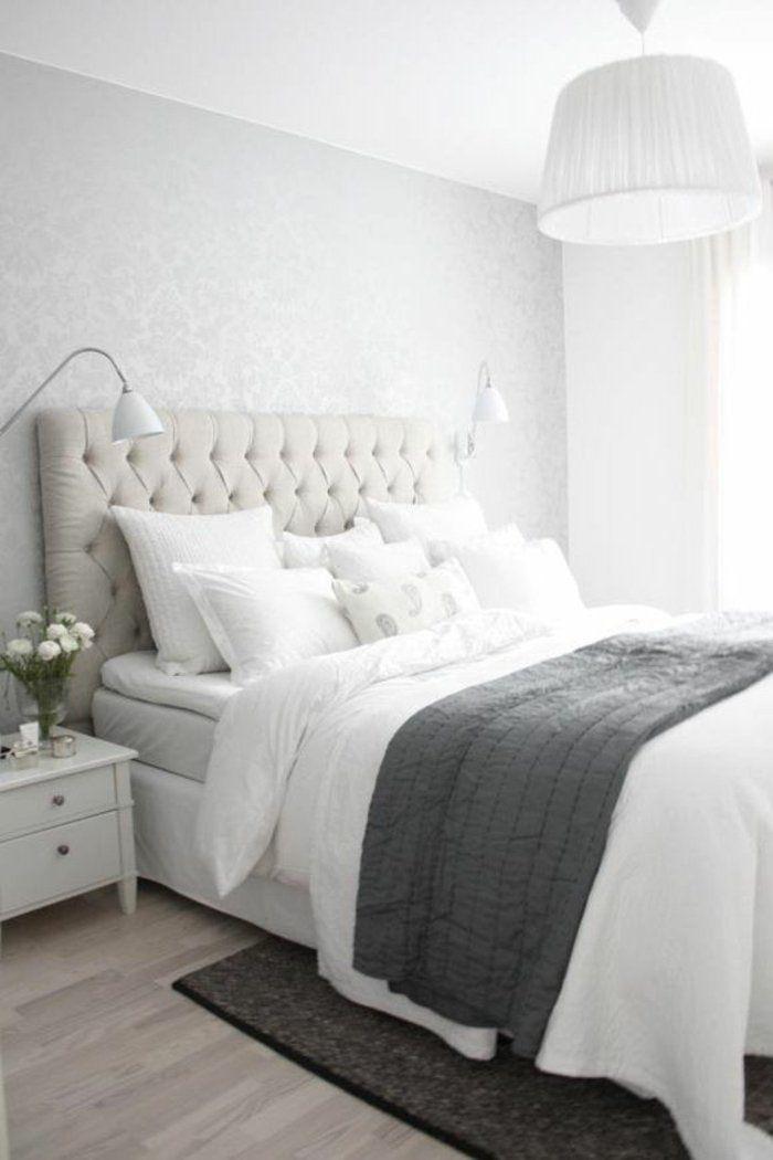 Weißes Bett - ein guter Freund im Schlafzimmer-Interieur ...