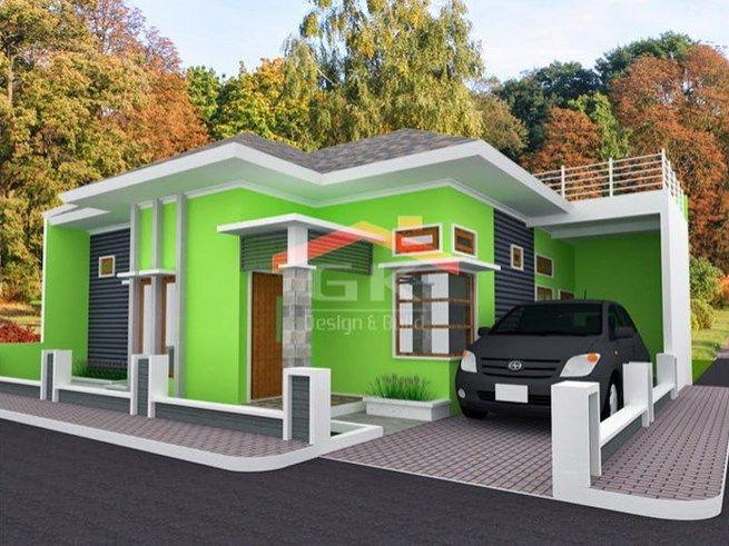 Gambar Rumah Minimalis  Lantai Tampak Depan Dan Warna Cat Pilihan Desainrumahnya Com Rumah Minimalis Pinterest Ceilings Smallest House And