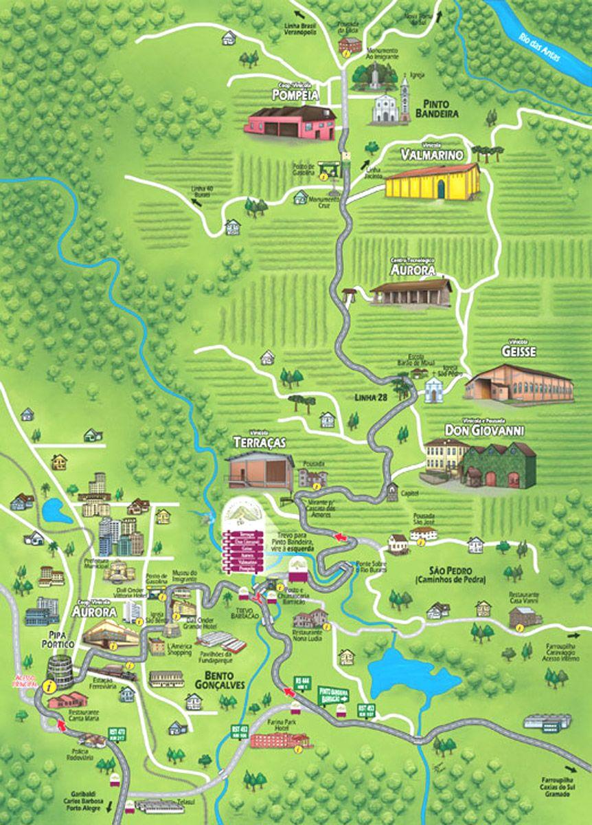 Mapas de Bento Gonçalves, Brasil