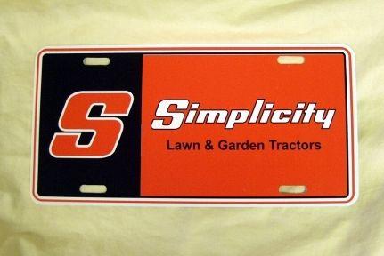Vintage Simplicity Lawn Garden Tractor License Plate eBay