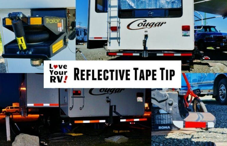 RV Safety Tip Added Reflective Tape to the Rig Rv