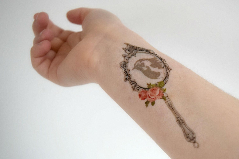 Ornate Hand Mirror Tattoo Heart Tattoos Designs 82 Ornate Hand