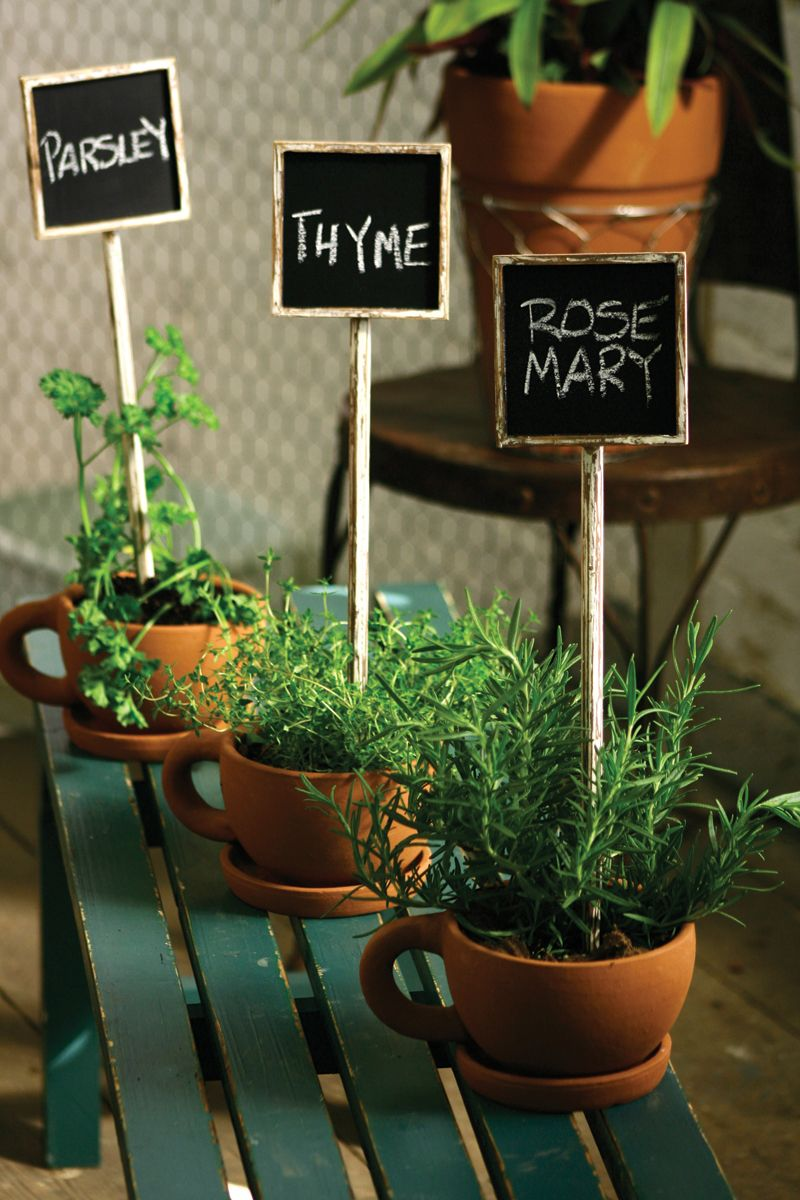chalkboard herb stakes | garden stakes | wedding décor | entertaining party décor