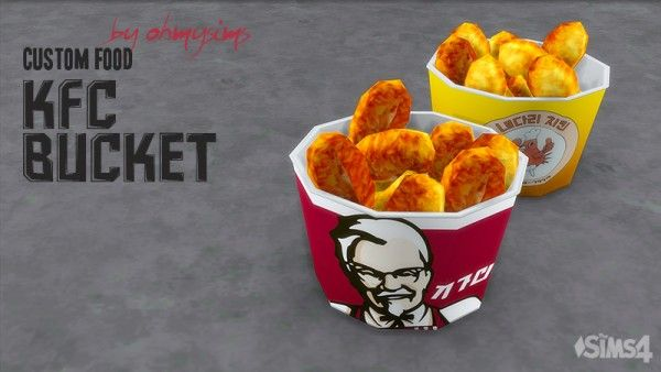 Mod The Sims Kfc Bucket By Ohmysims Sims 4 Downloads Sims 4