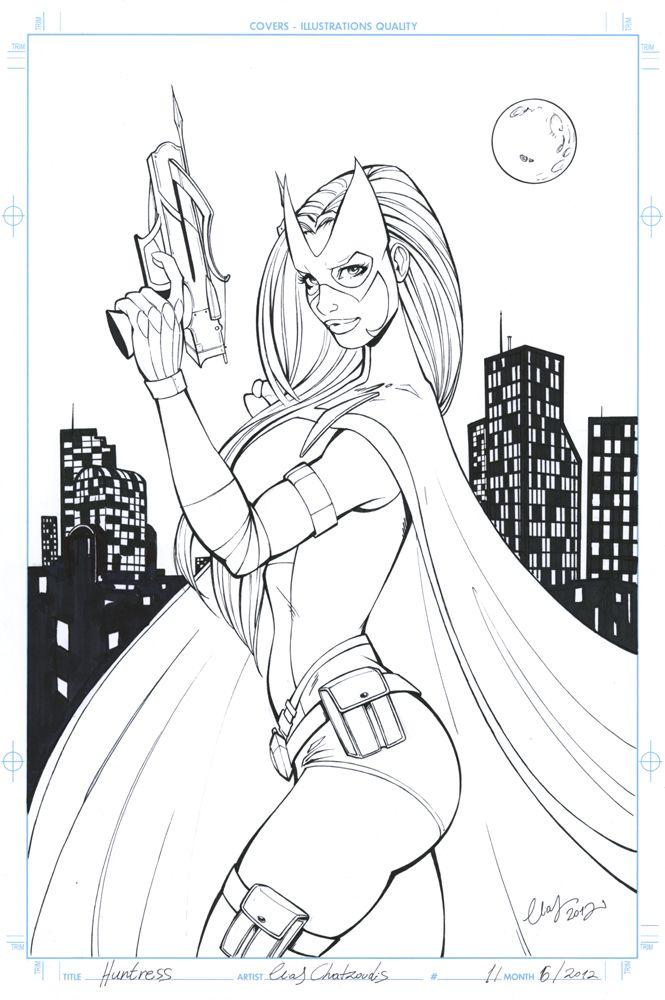 Huntress by Elias Chatzoudis   Artes Dc Comics   Pinterest