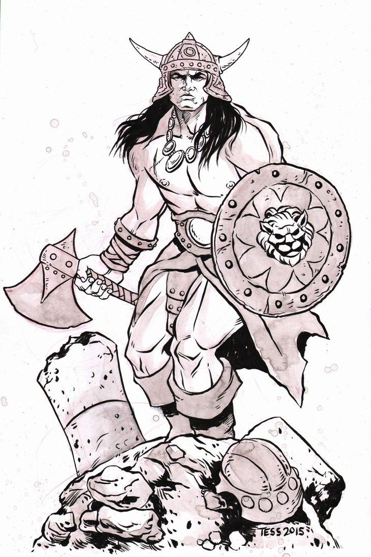 Conan The Brutal Statue Commission By TessFowler On