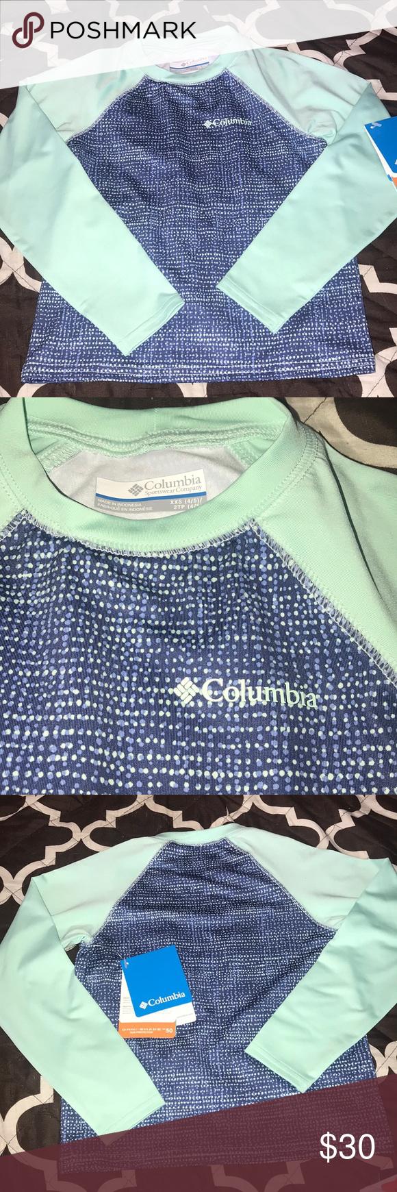 41a425b0 Girls Columbia sun guard long sleeve shirt XXS 4/5 New with tag. Omni