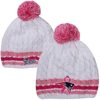 New Era New England Patriots Ladies 2013 BCA On-Field Knit Beanie - White  Pink  myHOFwishlist 7ee3fc0cc