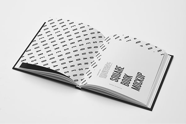 Square Book Mock-up on Behance