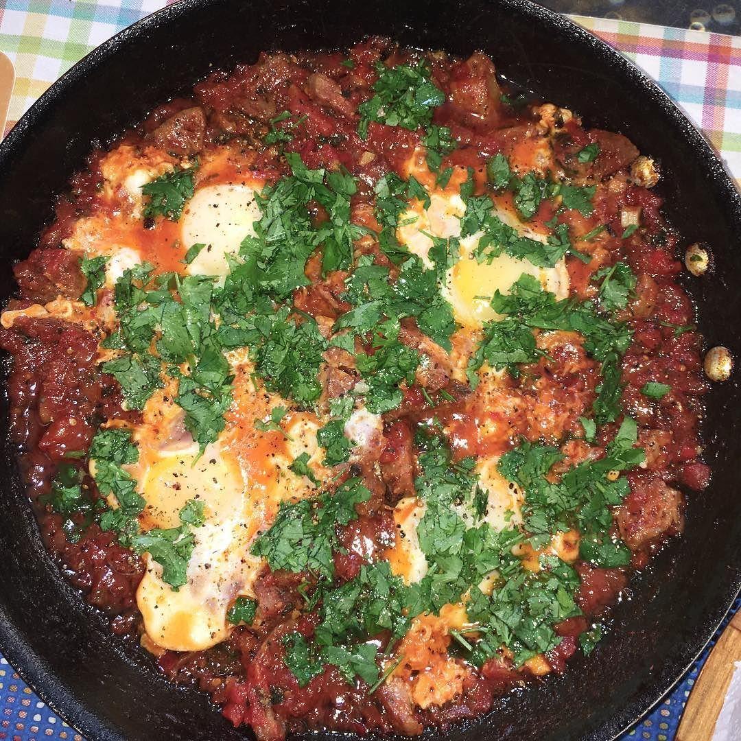 SHAKSHUKA  - HOMEMADE #shakshuka #egg #eggs #cilantro #coriander #food  #yum #instafood  #yummy #amazing #instagood #photooftheday #sweet #dinner #lunch #breakfast #fresh #tasty #foodie #delish #delicious #eating #foodpic #foodpics #eat #hungry  #hot #foods