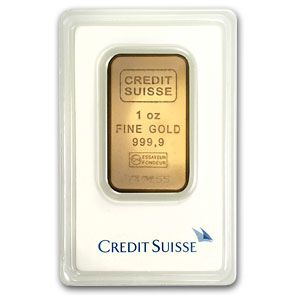 1 Oz Credit Suisse Gold Bar New W Assay Credit Suisse Gold Bar Gold Investments