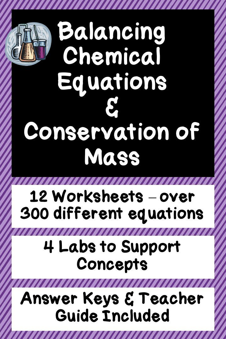 Balancing Chemical Equations, Conservation of Mass