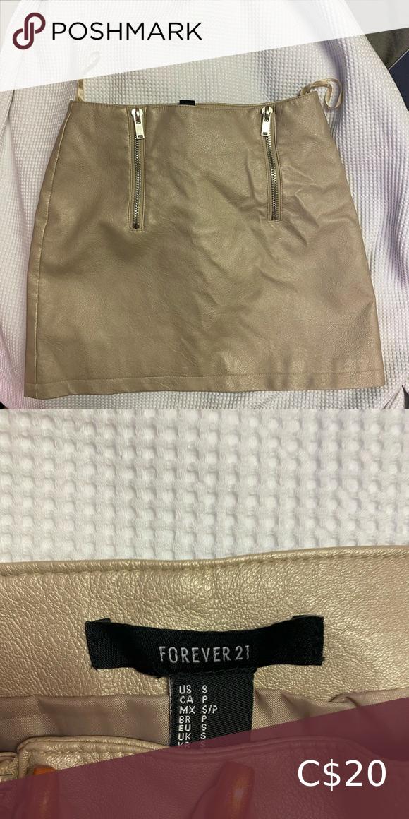 F21 front zip skirt