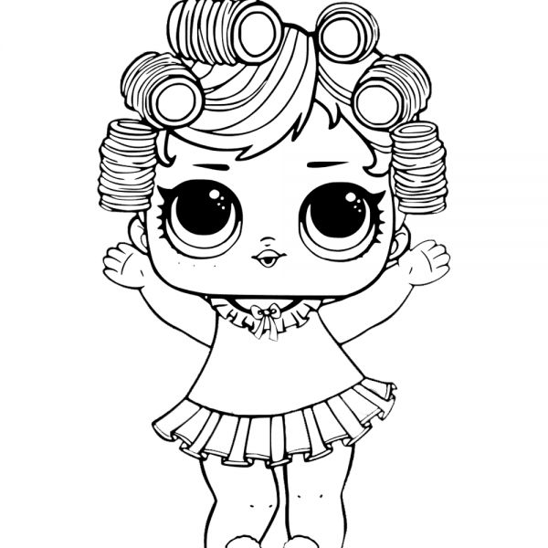Baby Doll From Lol Surprise Doll Coloring Pages Baby Coloring Pages Lol Dolls Coloring Pages