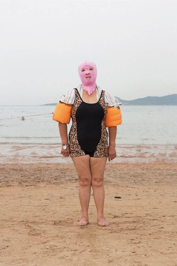 "Portraits of Chinese Swimmers Showcase a New Fashion Trend, ""Facekinis"""