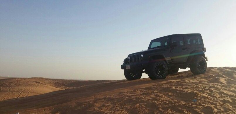 Wrangler on Sand Jeep, Wrangler, Sand