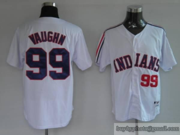 Cleveland Indians #99 Rick Vaughn Old White Jersey