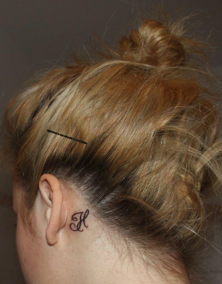Behind Ear Name Tattoo Ideas Tattoos Tattoos Couple Tattoos