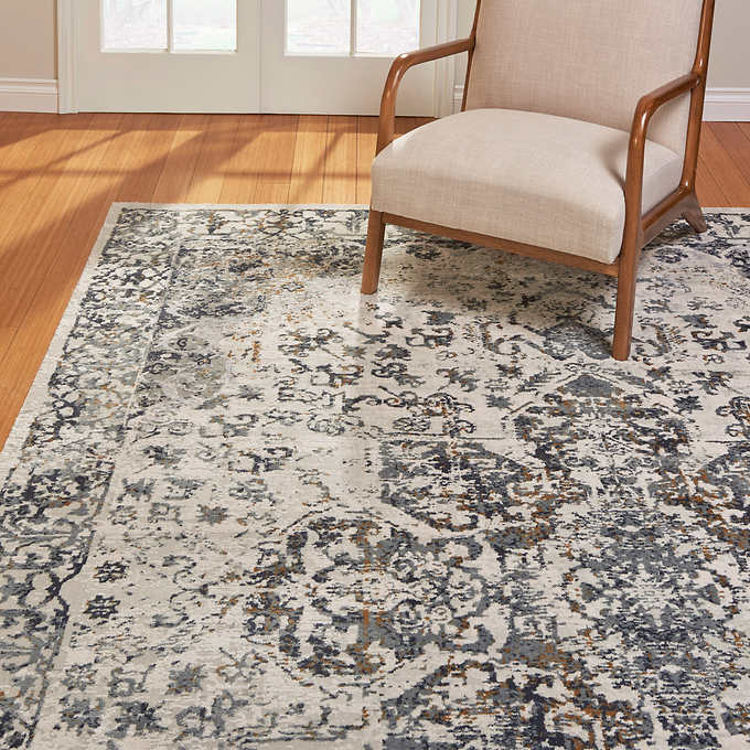 Aurora Rug Collection Cecile Ivory Gray Rugs Rugs In Living Room Cecile