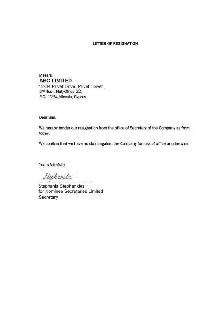sample simple resignation letters letter with lucy jordan example - professional resignation letters