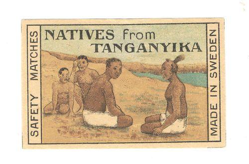 Matchbox Label Tanganyika