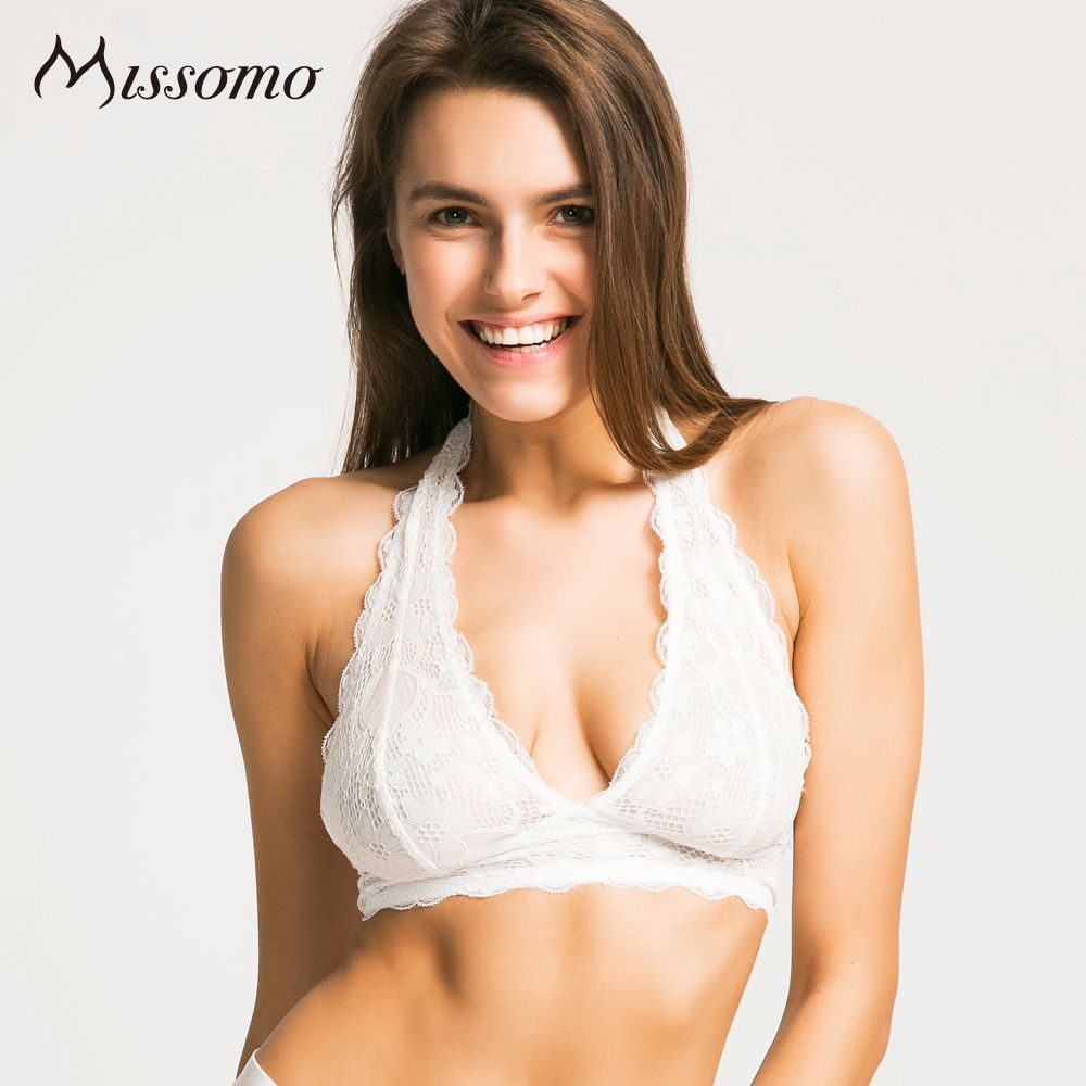 8d694d594b445 Price  9.99 Missomo 2017 New Fashion Women Black White Lace Sexy Push Up  Bralette Semi-
