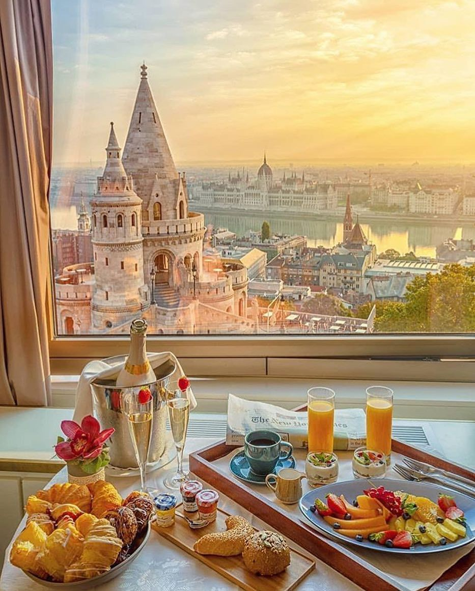 Unique Hotels Resorts On Instagram Breakfast With A View In Budapest Krenn Hungary Travel Beautiful Places To Travel Affordable Honeymoon Packages