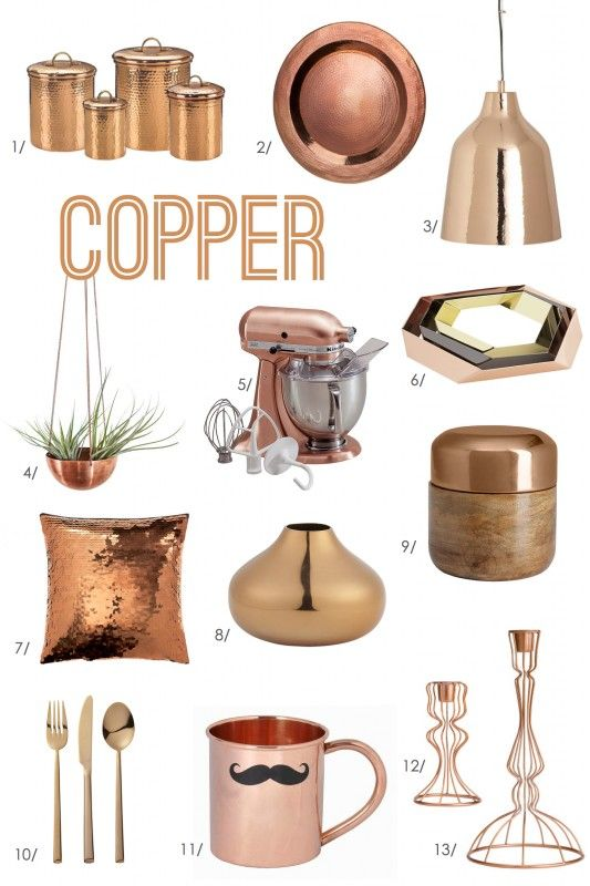 copper accessories for kitchen for the of color copper 5781