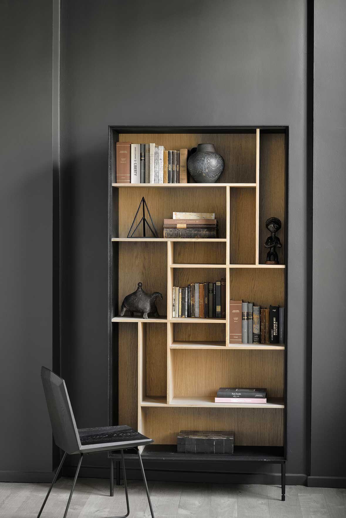 Bibliotheque Noire Ethnicraft Mobilier De Salon Meuble Bibliotheque Meuble Maison