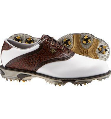 FootJoy Men s DryJoy Tour Golf Shoes - FJ 53612 (White Brown)  198737ce68c