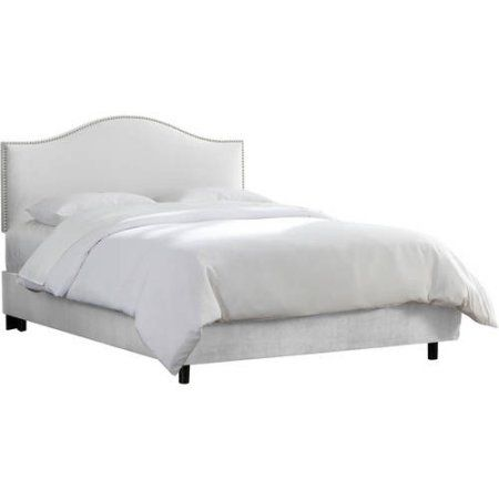 Skyline Furniture Custom Nailhead Trim Microsuede Upholstered Bed ...