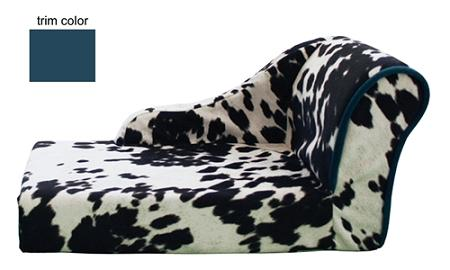 Cow Print Chaise Lounge With Images