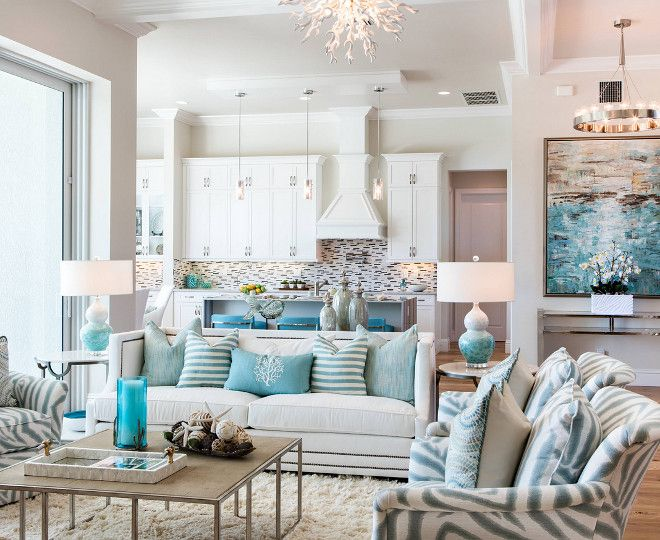 Florida Beach House With Turquoise Interiors