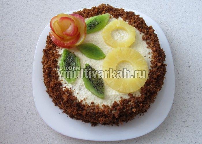 """Медовый бисквитный торт """"8 марта"""""""