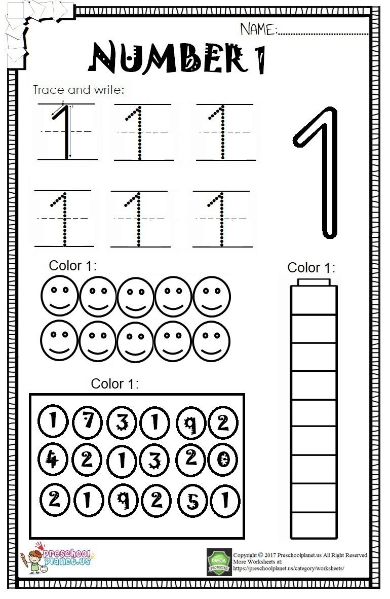 Let S Practice Number With Our Kids Or Students We Prepared This Number 1 Worksheet In Pdf F Aprendizaje Preescolar Tableros De Preescolar Ninos De Preescolar
