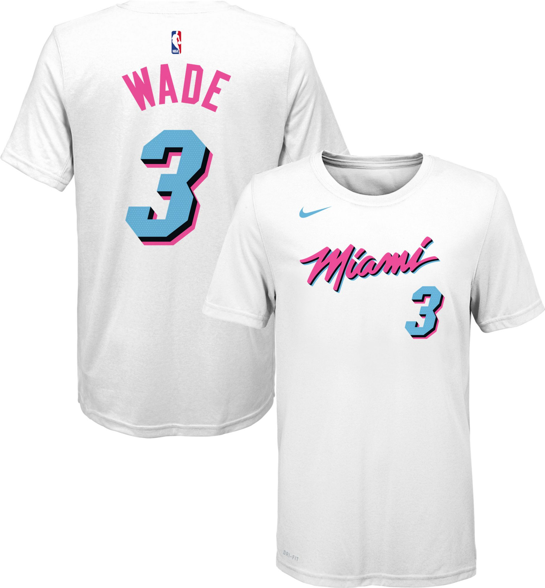 wholesale dealer 88e78 a4d4e Nike Youth Miami Heat Dwyane Wade Dri-FIT City Edition T ...