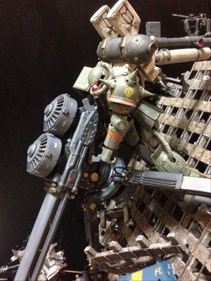 HGGT 1/144 Zaku II with Big Gun (Thunderbolt Ver.) Custom Build with Diorama - Gundam Kits Collection News and Reviews