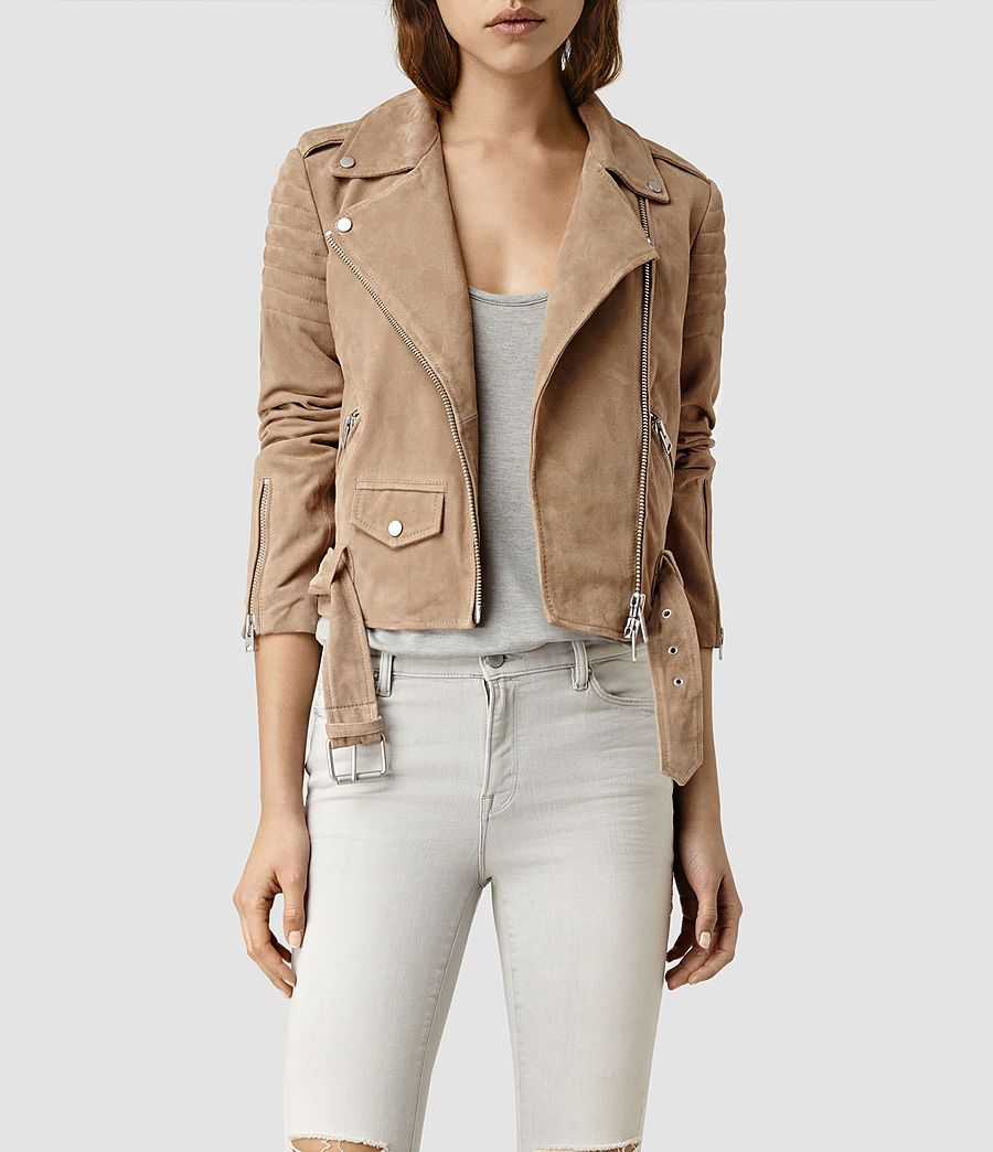 Suede jacket womens
