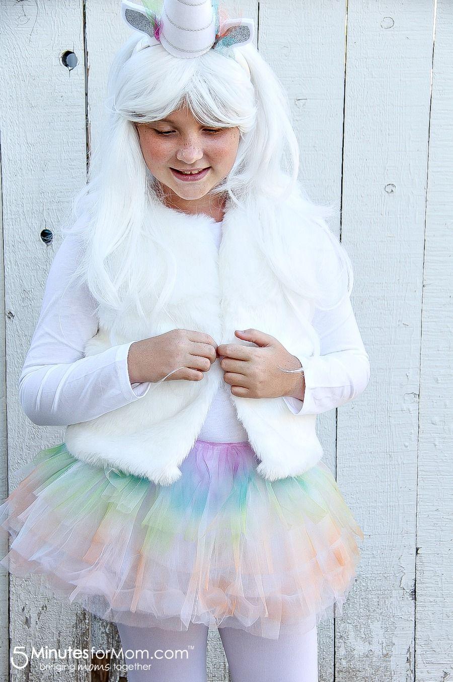 DIY Unicorn Halloween Costume - How To Make an Easy Unicorn Costume for Kids  sc 1 st  Pinterest & How To Make an Easy Unicorn Costume for Kids | Pinterest | Unicorn ...