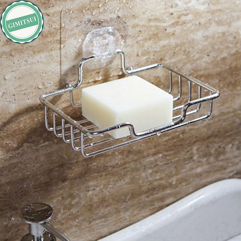 Stainless Steel Non Rust Bathroom Accessories Shower Soap Rack Dish Holder Wall Mounted Soap Stand Stora Bathroom Accessories Shower Soap Cheap Storage Shelves